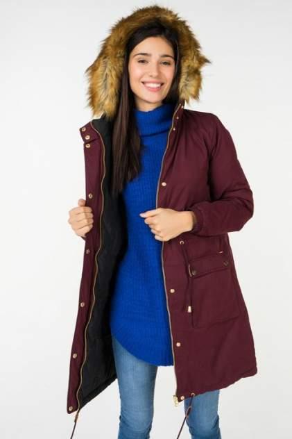 Куртка женская b.young 20804181 бордовая 34 EU