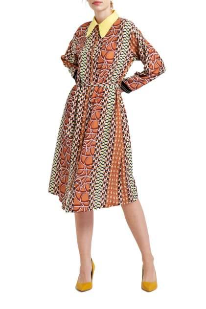 Платье женское BGN S19D258 коричневое 40 FR