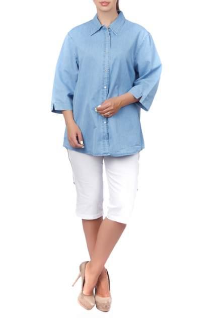 Рубашка женская LAFEI-NIER H72114T-J голубая 3XL