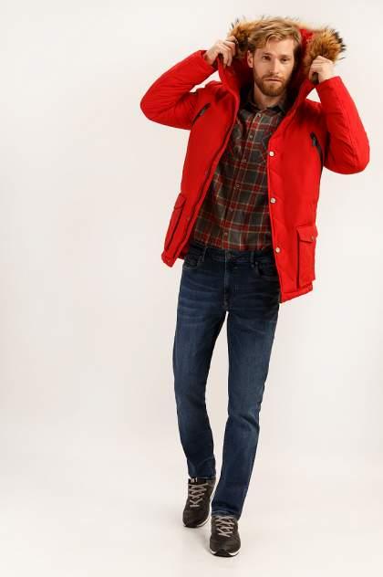 Пальто мужское Finn Flare A19-22014 красное 3XL