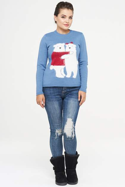 Джемпер женский VAY 182-4827 голубой 48 RU