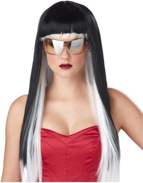 Парик Гламурная дива (черно-белый) взрослый California Costumes k70691