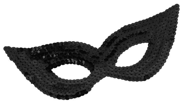 Черная маска в блестках Forum Novelties f68513