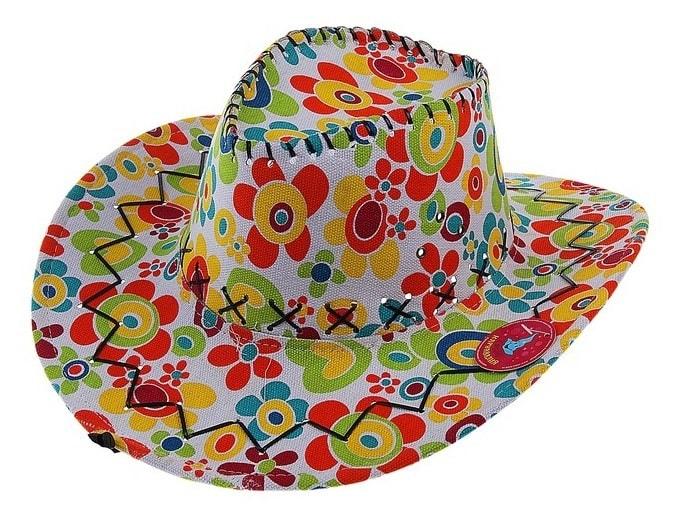 Шляпа Ковбой яркая Sima-land s330973
