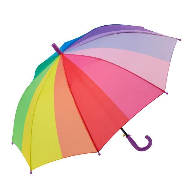 Зонт детский Diniya для мальчиков и девочек Радужный с прямой кромкой, фиолетовая ручка