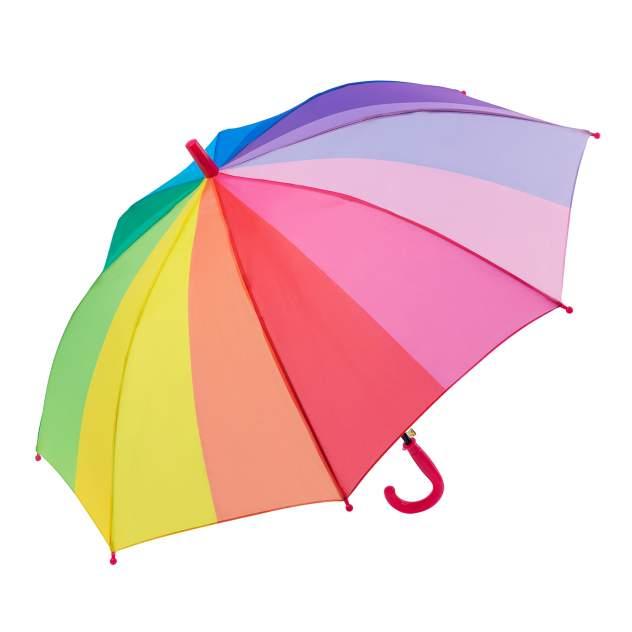 Зонт детский Diniya для мальчиков и девочек Радужный с прямой кромкой, фуксия ручка