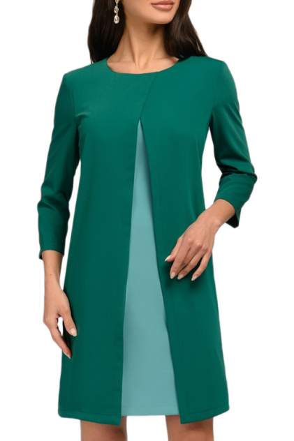 Платье женское D&M by 1001DRESS DM01038GM зеленое XL