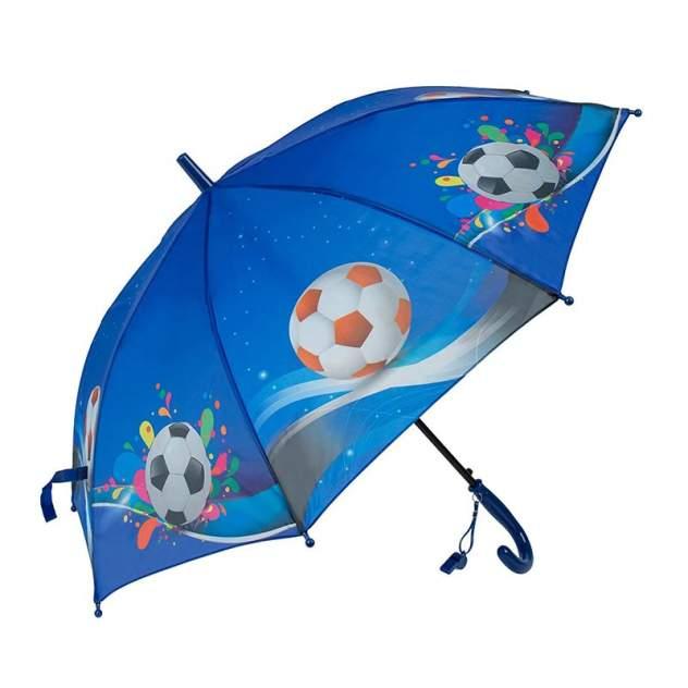 Зонт детский Rain Lucky для мальчиков Футбольный мяч со свистком, синий