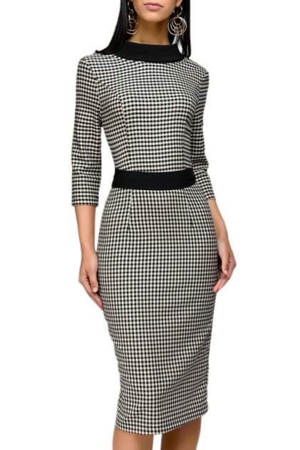 Платье женское D&M by 1001DRESS DM00302BK серое XL