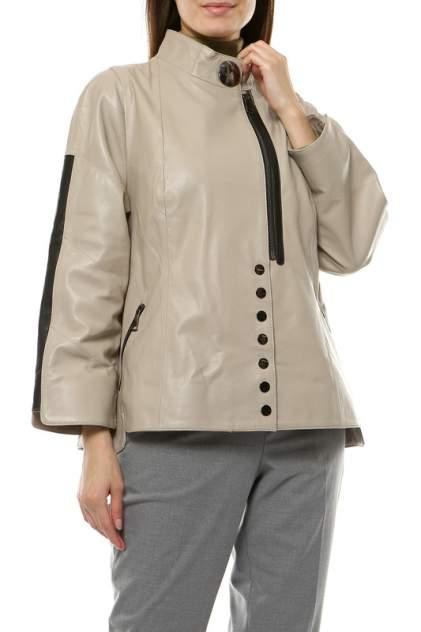 Кожаная куртка женская VITTORIO VENETO CL-1716 бежевая 52