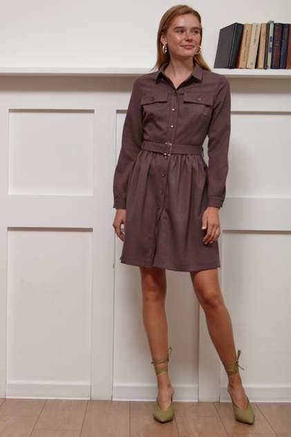 Платье-рубашка женское Vittoria Vicci 1808-51725 коричневое 48