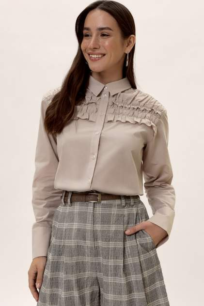 Блуза женская Vittoria Vicci 2002-04-6529 бежевая 44