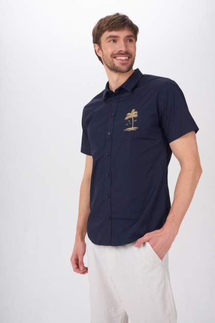 Рубашка мужская Tom Farr T M7005.67, синий