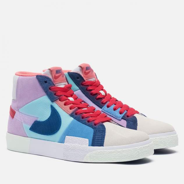 Кроссовки мужские Nike SB Zoom Blazer Mid Premium Mosaic, фиолетовый