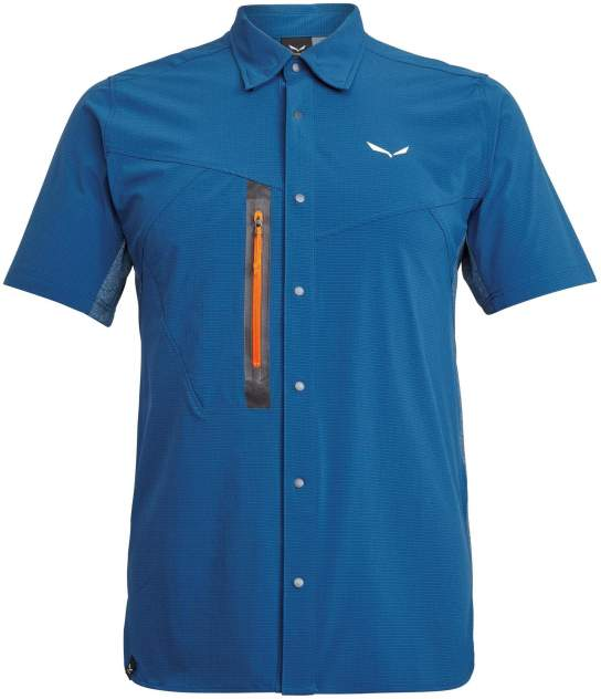 Рубашка Для Активного Отдыха Salewa 2020 Puez Hybrid Dst M S/S Poseidon Melange (Eur:46/S)