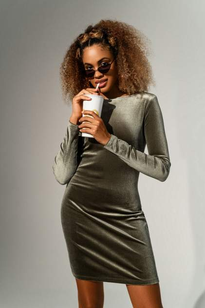 Вечернее платье женское befree 2041048504 зеленое M