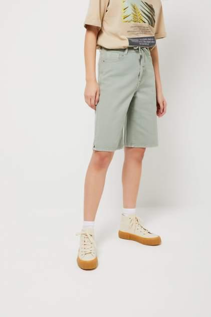 Джинсовые шорты женские Sela 1804011426 зеленые 48