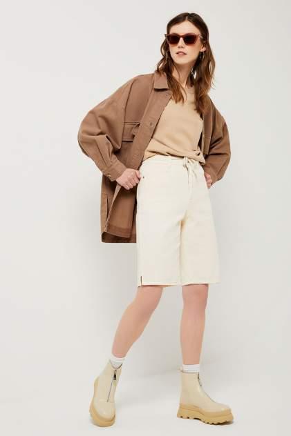 Джинсовые шорты женские Sela 1804011426 белые 46