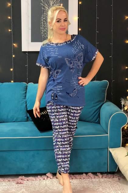 Домашний костюм женский Миллена Шарм 7105 синий 52