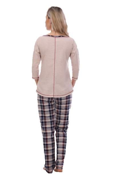 Домашний костюм женский Миллена Шарм юния бежевый 48