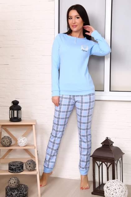 Домашний костюм женский Миллена Шарм 12485 голубой 44