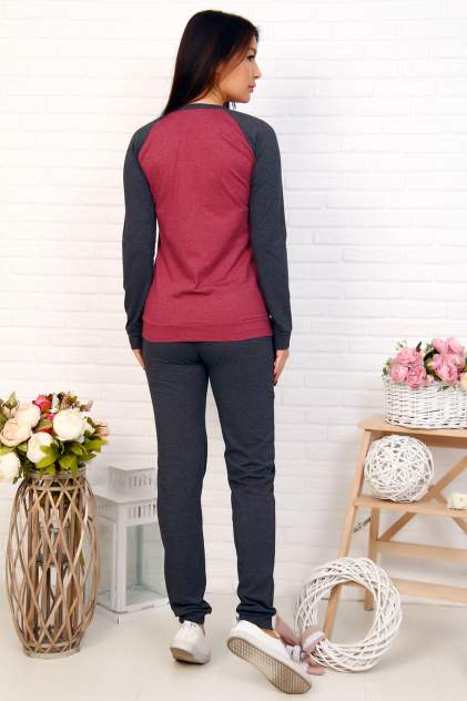 Домашний костюм женский Миллена Шарм Ussr красный 48
