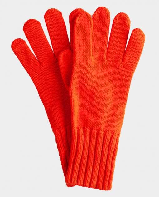 Оранжевые перчатки вязаные Gulliver цв. оранжевый 18