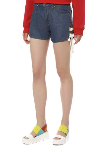 Джинсовые шорты женские LOVE MOSCHINO W O 104 81 T 0667 синие 40 IT