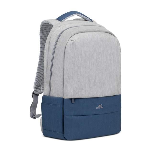 "рюкзак для ноутбука унисекс RIVACASE 7567 grey/dark blue  17.3"""