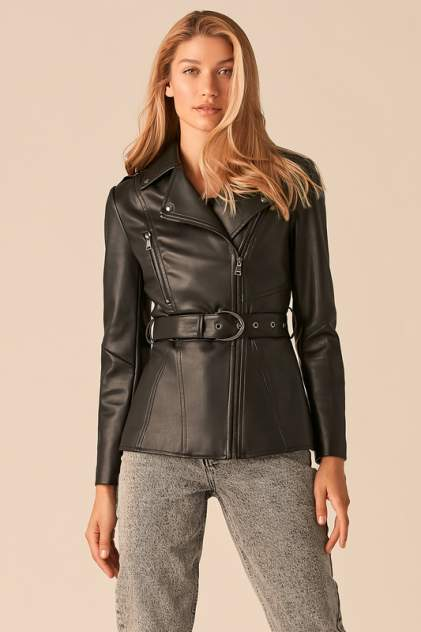 Кожаная куртка женская LOVE REPUBLIC 359205122 черная 46-170