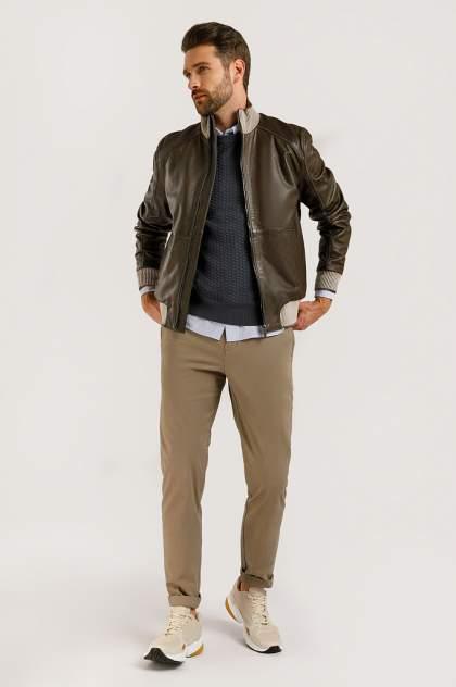 Кожаная куртка мужская Finn Flare B20-21805 коричневая 2XL