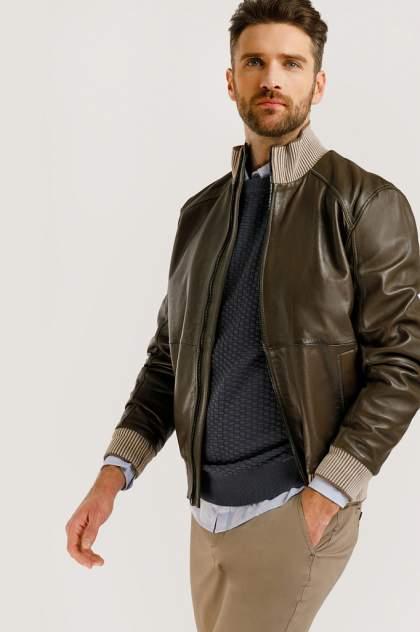 Кожаная куртка мужская Finn Flare B20-21805 коричневая 3XL