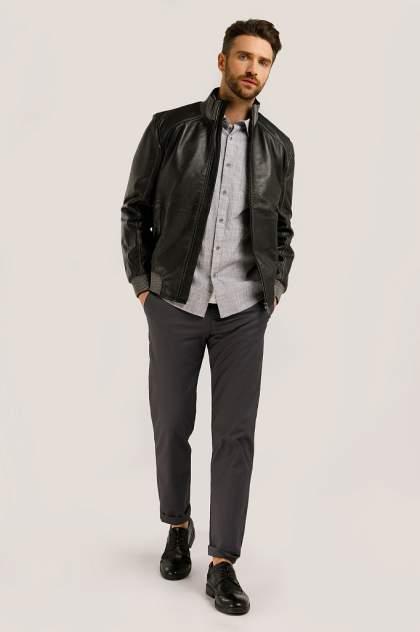 Кожаная куртка мужская Finn Flare B20-21805 черная 2XL