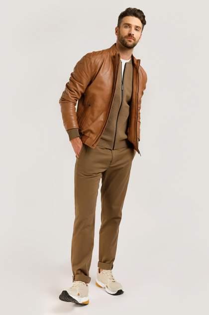Кожаная куртка мужская Finn Flare B20-21801B коричневая 4XL