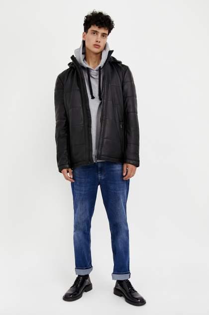 Мужская кожаная куртка Finn Flare A20-21803, черный