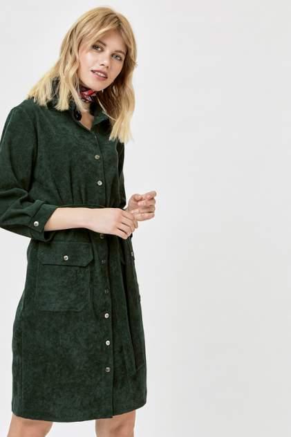 Платье-рубашка женское Vittoria Vicci 1801-9196-2 зеленое XS