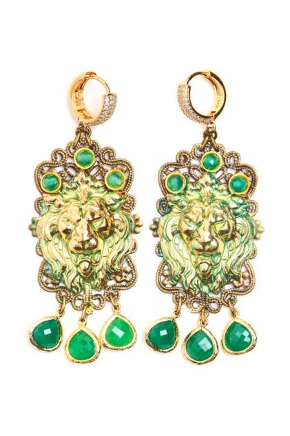 Серьги женские PATRICIA BRUNI PB5003 зеленые