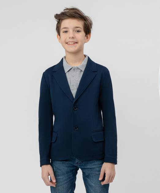 Синий трикотажный пиджак BUTTON BLUE 220BBBS19011000, размер 146