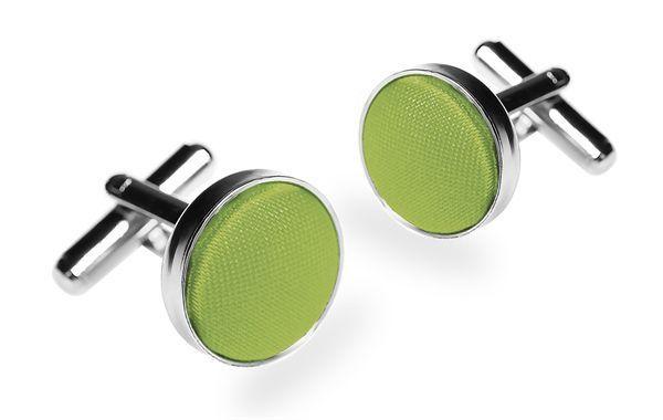 Запонки мужские 2beMan ZP108 зеленые