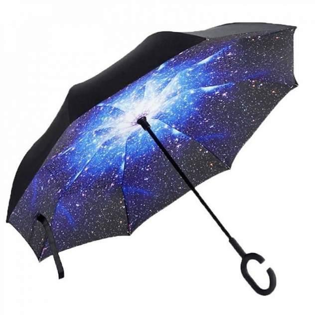 Зонт обратный унисекс механический Baziator X0081AV синий/черный/белый