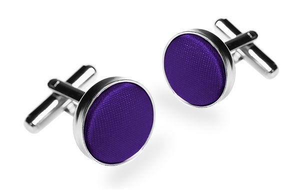 Запонки мужские 2beMan ZP16 фиолетовые