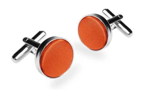 Запонки мужские 2beMan ZP18 оранжевые
