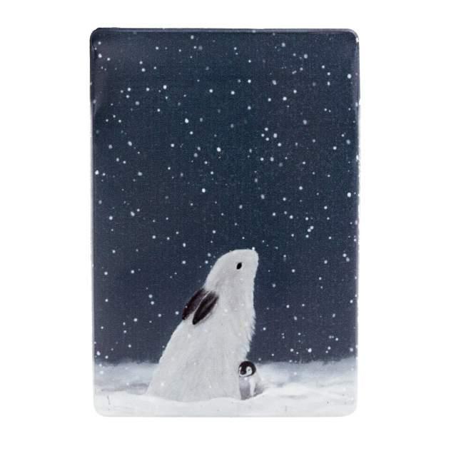 Обложка для проездного унисекс Kawaii Factory Заяц и пингвин