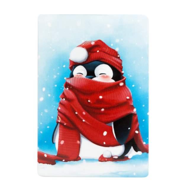 Обложка для проездного унисекс Kawaii Factory Пингвин на прогулке