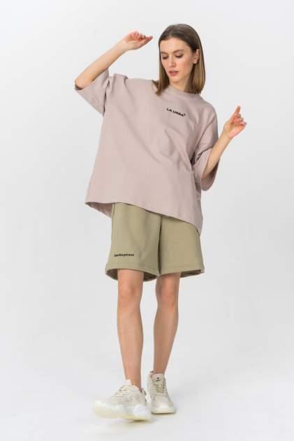 Повседневные шорты женские LA URBA PERSON OLV-008 зеленые 46-48