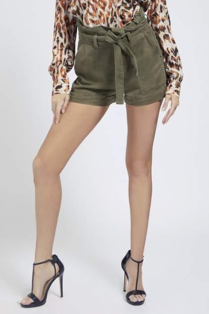 Повседневные шорты женские Guess W1GD0DWDP82G8U0 хаки 42