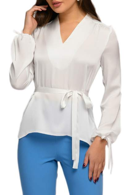 Блуза женская D&M by 1001DRESS 0112007-01783WH белая XL