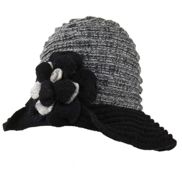 Шляпа женская Venera 9701759 серая/черная