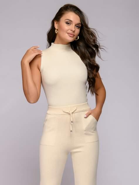 Женские брюки 1001dress 0122008-30097BG, бежевый
