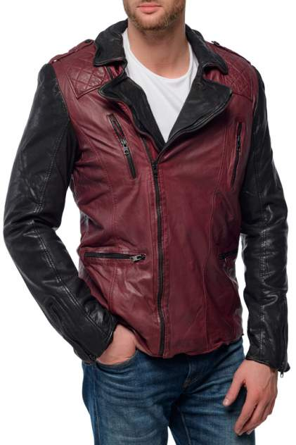 Кожаная куртка мужская TIGHA FRANK красная S